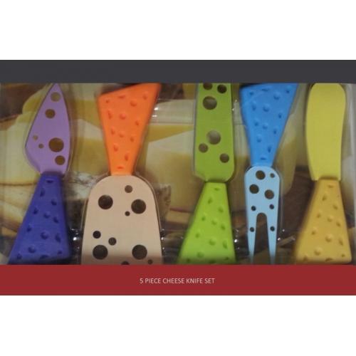 סט 5 סכיני גבינה מעוצבים באריזה שקופה