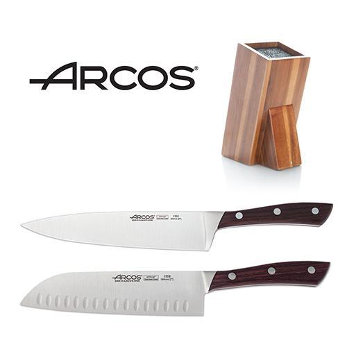 בלוק סכינים וסכיני סונטיקו , שף ומטבח ARCO