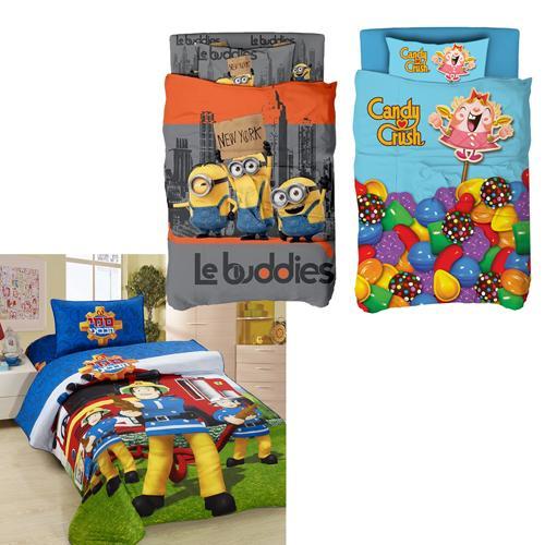 לישון עם המותגים הגדולים - מצעי יחיד לילדים