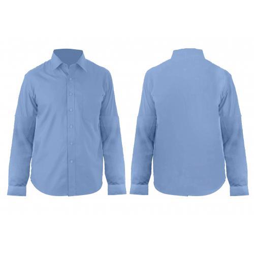 חולצת אוקספורד שרוול ארוך