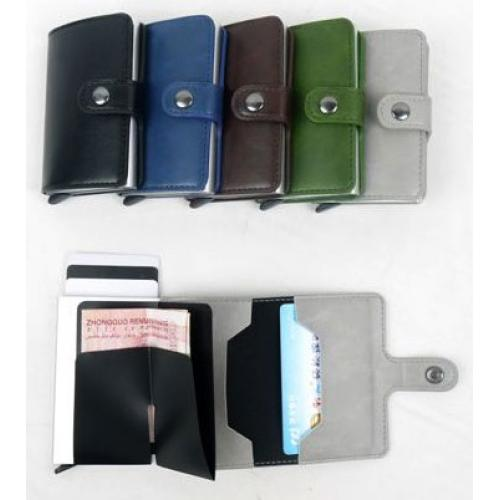 ארנקון השולף את כרטיסי האשראי משולב בארנק העשוי מ PU