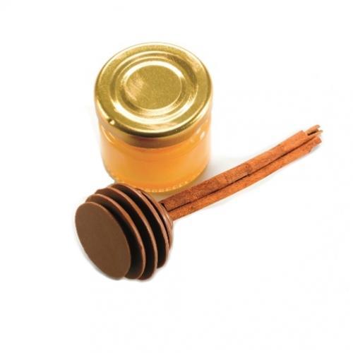 דיפר שוקולד על מקל קינמון ומיני צנצנת דבש