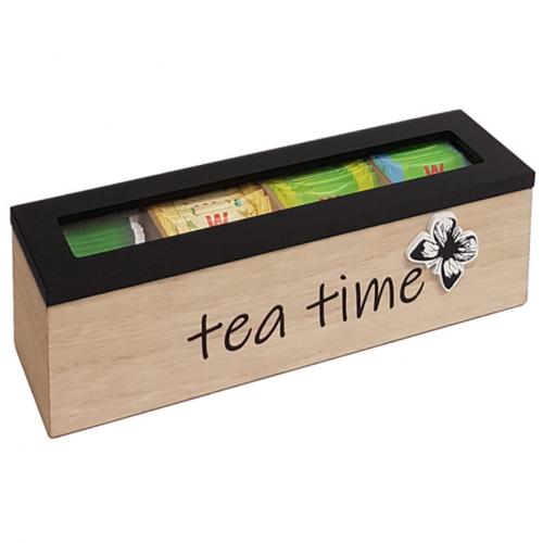 """""""TEA TIME"""" מארז מעץ לתה מפנק"""
