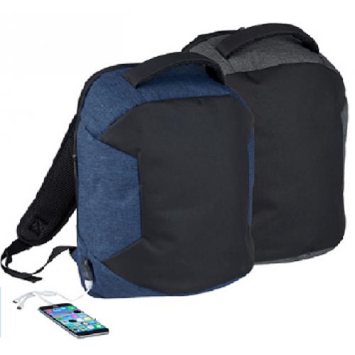 """""""קולג"""" תיק גב למחשב נייד 15.6 אינץ' עם יציאת USB לטעינת ניידים"""