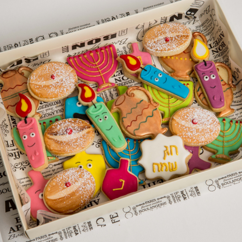 עוגיות מעוצבות בתפזורת לחנוכה
