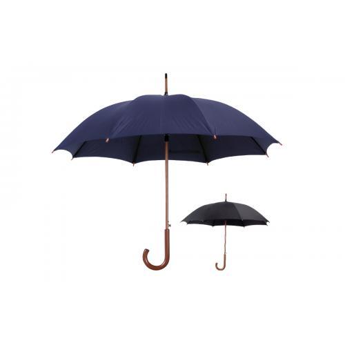 מטריה קלאסית עם ידית אחיזה מעץ