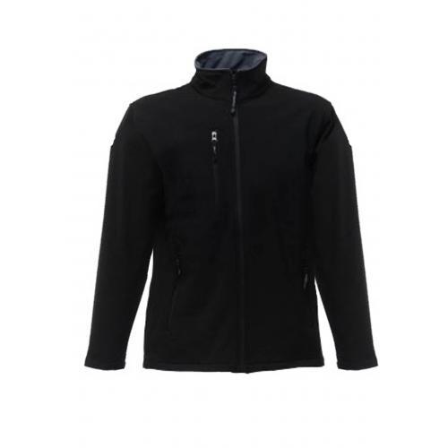 מעיל סופטשל שחור עם כובע נסתר