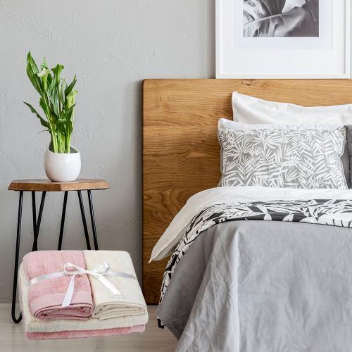 מארז כיפי ומרענן למיטה עם 2 סטים מצעי כותנה זוגיים ו-8 מגבות - כיתן