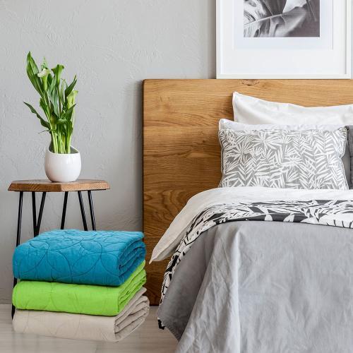 כיסוי מיטה/שמיכת מעבר בעיצוב יוקרתי ושמיכת פוך יחיד - כיתן