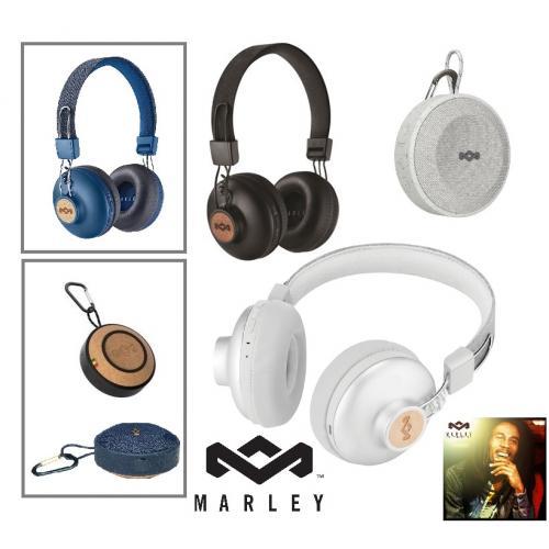 ערכת רמקול ואוזניות מותג בלוטוס יוקרתי מבית House Of Marley