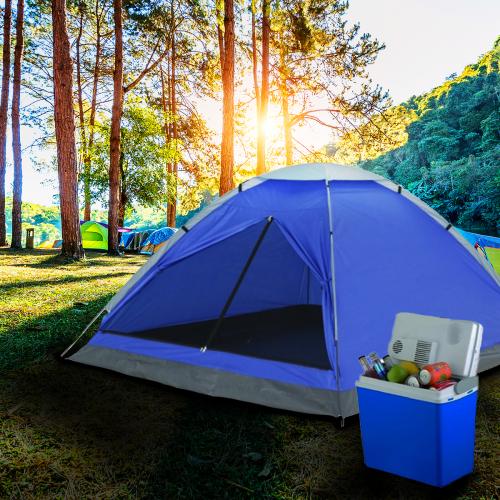 מארז לטיול מושלם! אוהל ל-4 אנשים  וצידנית מקרר גדולה במיוחד קירור / חימום לרכב