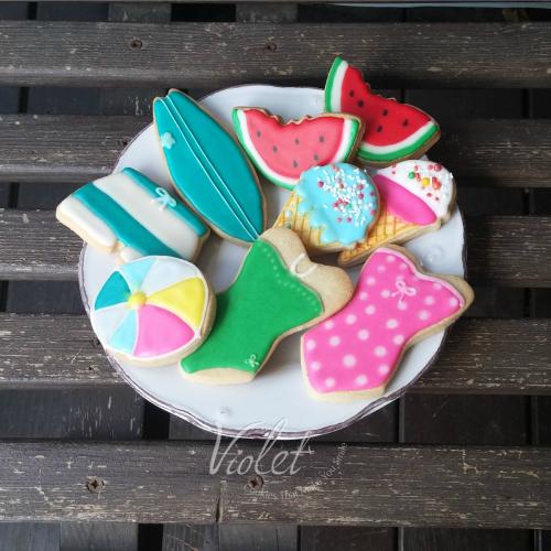 עוגיות מעוצבות בקונספט קיץ