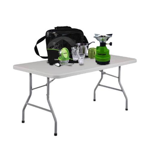 מארז פיקניק מושלם הכולל שולחן פיקניק מתקפל וערכת קפה לשטח