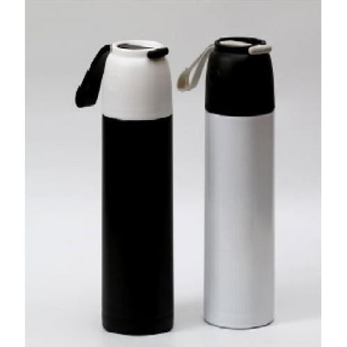 תרמוס מעוצב חצי ליטר עם כוס וידית סיליקון לנשיאה