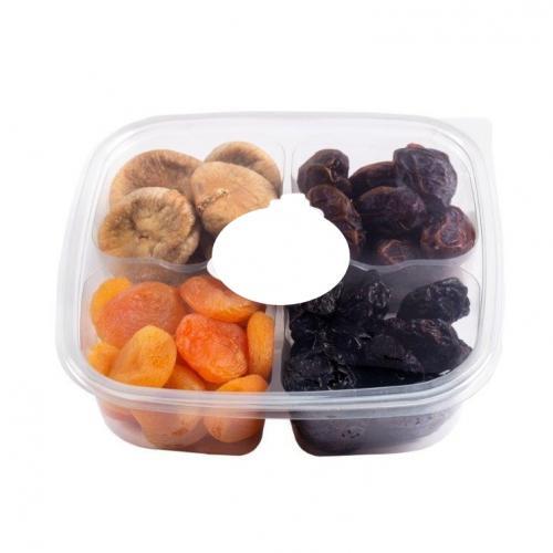 מארז פירות יבשים בקופסת פלסטיק