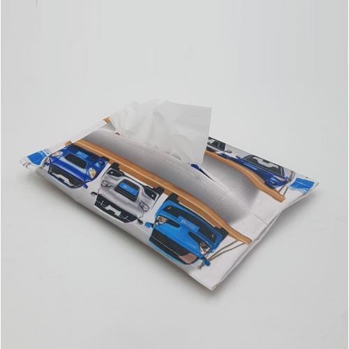 נרתיק בד לטישו או מגבונים עם הדפסה צבעונית מלאה