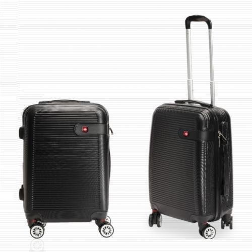 """מזוודה קשיחה עשויה ABS קלה ואיכותית """"20 מבית SWISS"""