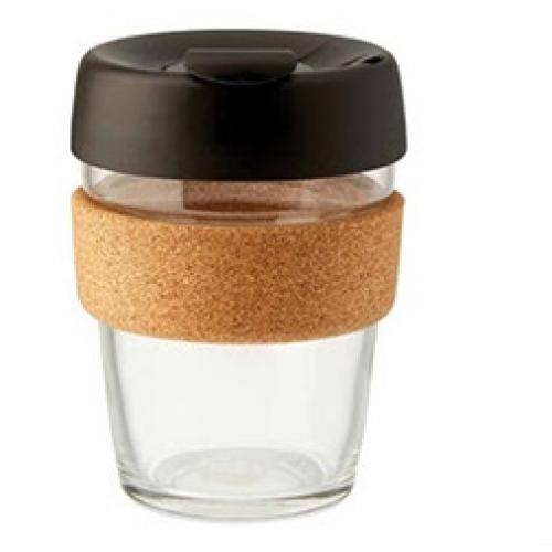 כוס זכוכית לשתיה חמה עם חבק משעם