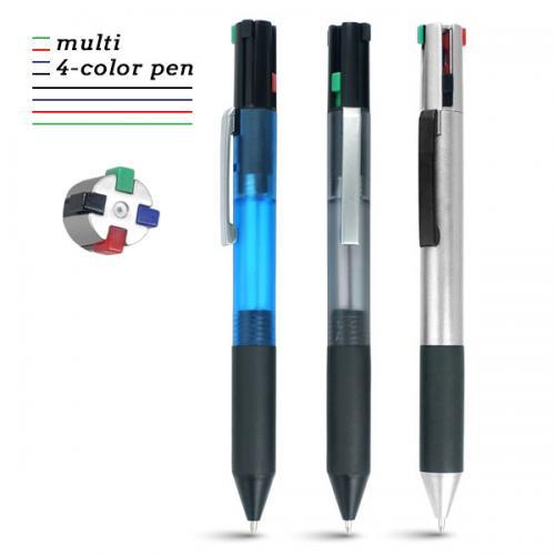 עט פטנט מעוצב עם 4 מילויים וראשי דיו בצבעים שונים