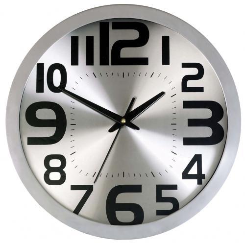 שעון קיר אלומניום כסוף