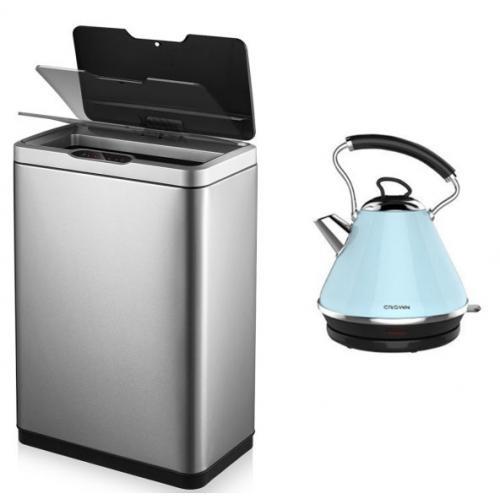 מארז חשמלי למטבח פח חכם 45 ליטר וקומקום חשמלי נירוסטה