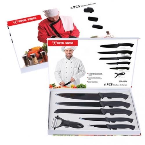 סט 6 חלקים יוקרתי הכולל 5 סכינים + קולפן CONTINENTAL HOMEWARE