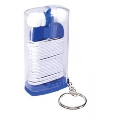 אוזניות איכותיות בקופסא לנשיאה נוחה עם מחזיק מפתחות