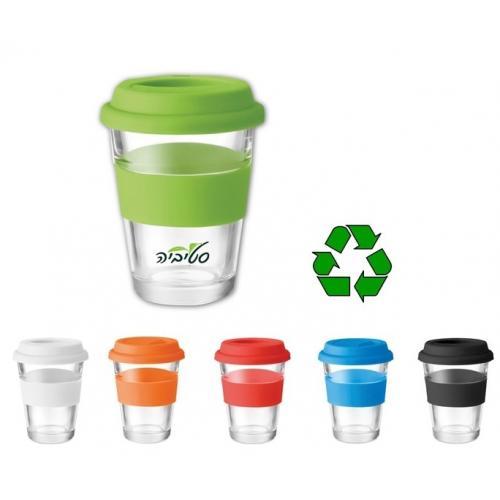 כוס אקו - כוס השומרת על סביבת עבודה ירוקה! ניתנת למיתוג