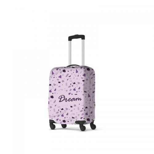 """כיסוי מזוודה מבד כולל הדפסה מלאה - למזוודה 21"""" (עליה למטוס)"""
