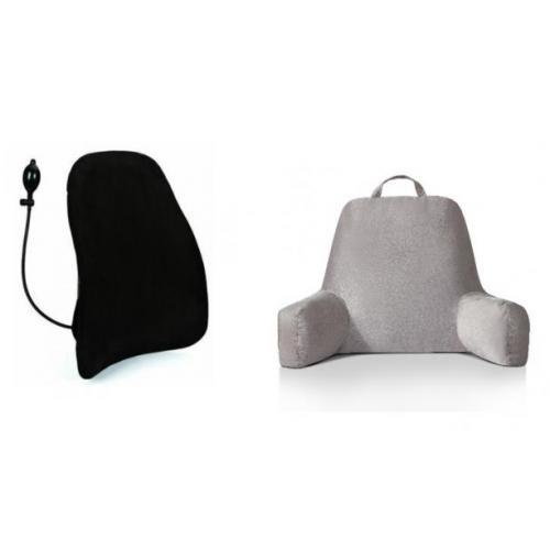 """סט לנוחות מרבית משענת גב וכרית תמיכה רב תכליתית לשימוש במיטה ד""""ר גב"""
