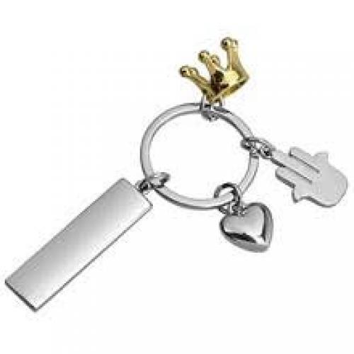 מחזיק מפתחות מתכת מבריק