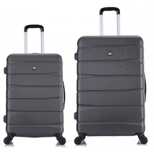 """סט 2 מזוודות איכותיות קשיחות גודל 24+20 """"  SWISS כולל מנעול קודן"""