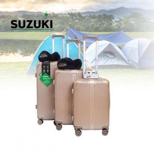 סוזוקי טרמינל סט 3 מזוודות שמפניה 2 כריות ומשקל SUZUKI ENERGY