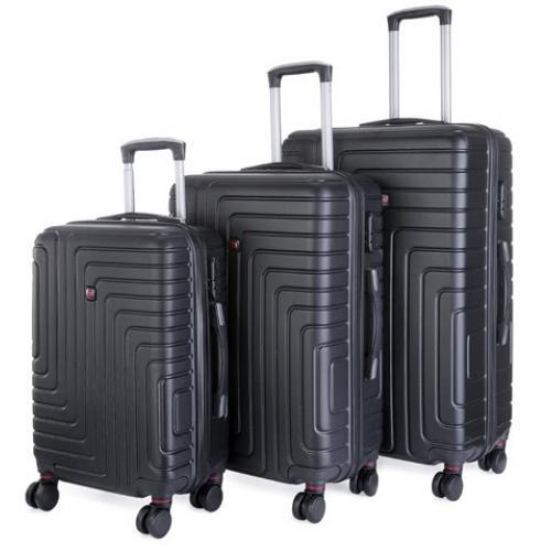 סט 3 מזוודות קשיחות קלות משקל