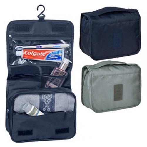 תיק כלי רחצה מתקפל לטיולים עם תלייה