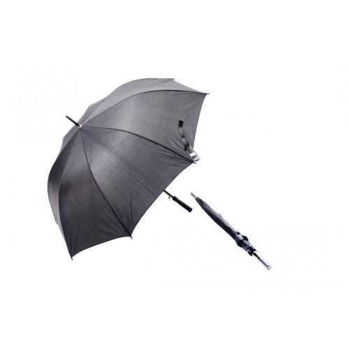 """מטריה גבר ארוכה """"27 פתיחה אוטומטית ידית עץ שחורה"""