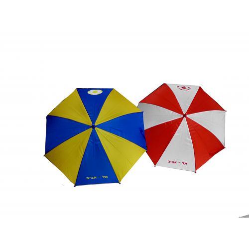 מטריית כדורגל - כחול צהוב -צהוב שחור - אדום לבן