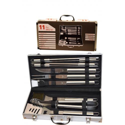 מזוודה כלים ל-BBQ עם 11 חלקים