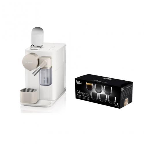 מארז  מכונת קפה Nespresso לטיסימה Lattissima One עם מקציף  ושישיית כוסות אספרסו
