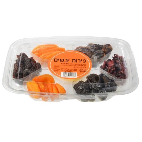 פירות יבשים משמשים שזיפים אננסים חמוציות צימוקים ותמרים