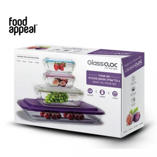 סט 4 כלי אחסון ואפיה BAKE & STORE מבית FOOD APPEAL