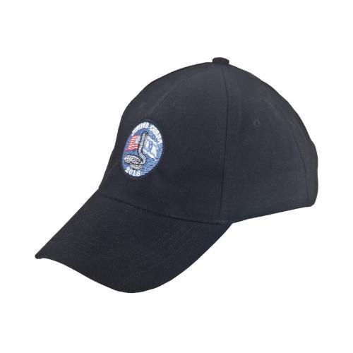 כובע כותנה סרוקה שחור