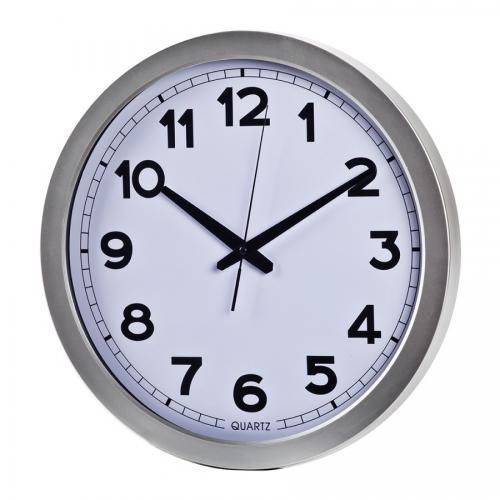 """שעון קיר עגול קוטר 35 ס""""מ לבן"""