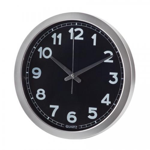 """שעון קיר עגול קוטר 35 ס""""מ שחור"""