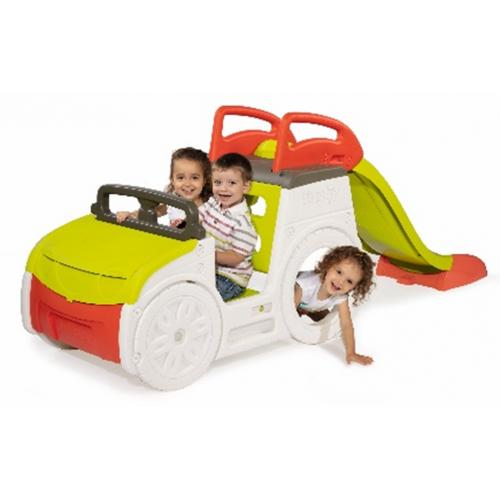 מכונית הרפתקאות עם סולם ומגלשה SMOBY