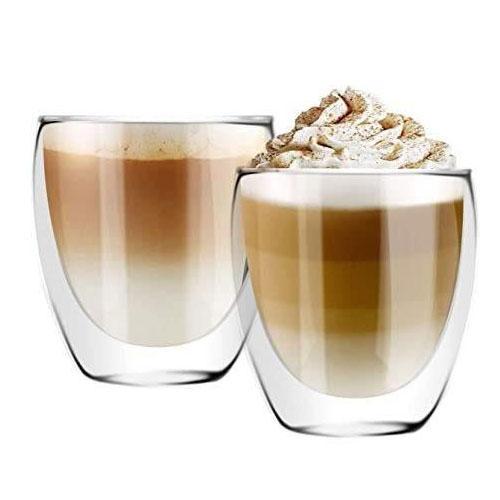 זוג כוסות דופן כפולה לקפה