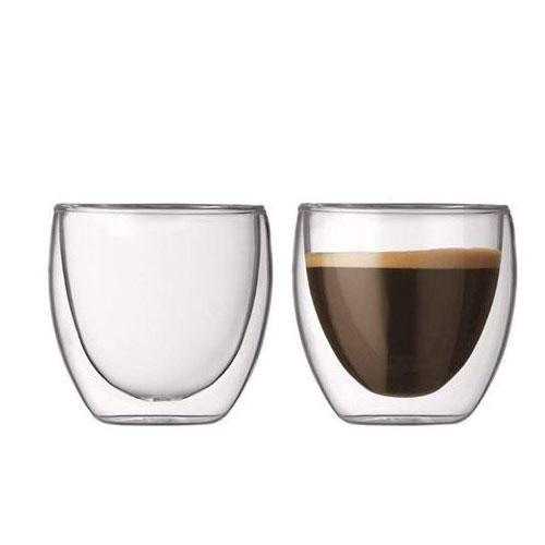 זוג כוסות דופן כפולה לאספרסו