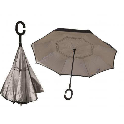 מטריה הפוכה עם פתיחה אוטומטית, בעלת 2 שכבות