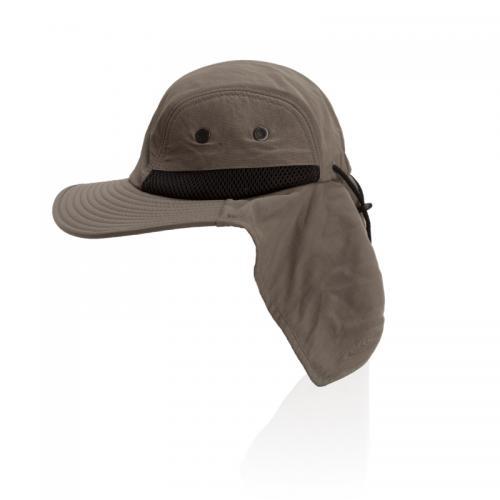 כובע טיולים רחב שוליים עם מגן