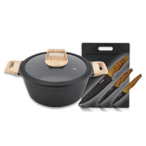 סט בישול מעוצב עם ידיות עץ
